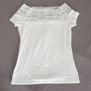 H&M Tops - Lace-Shoulder Top from Divided by H&M
